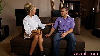 fantastic ash-blonde masseuse gets porked by her perv customer