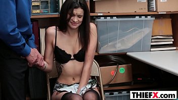 dark-hued-haired teenager eden sin gets penalized