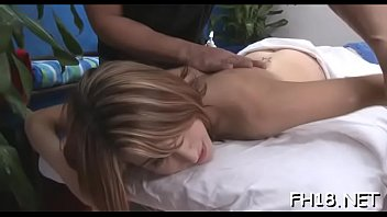 pleasing stunner enjoys rubdown