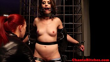 lezzie domination tormentor caresses restricted victims.