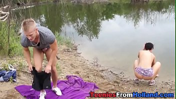 nubile jizzed by the lake