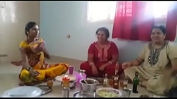 village aunties loving soiree with wine than boning.