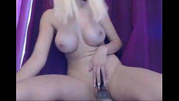 steaming blond stunner fuckin' faux penis.