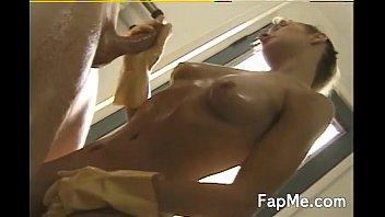 yummy female fumbling a fat knob.