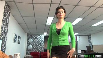 tall, skinny latina rammed in doggy position