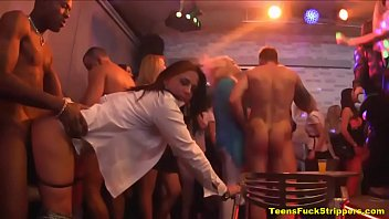 nasty whores go supah-naughty for bone at stripper soiree