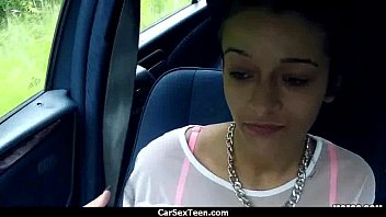 Car sex teen hitchhiker hardcore pounded 26
