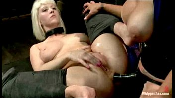 Cherry Torn is spanked, caned and is hungry for wet pussy when Felony punishes a