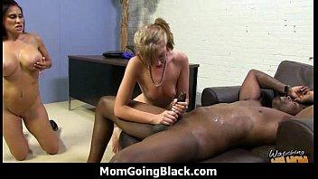 Mature MILF takes on big black cock 16