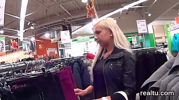 jaw-dropping czech hottie was enticed in the mall.