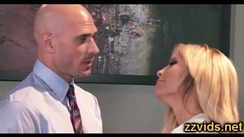 Busty beautiful blonde Tasha Reign fucked by herboss at office