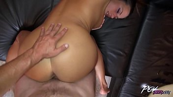 Anal queen Mea Melone squirting when fucked on the sofa raw in the ass