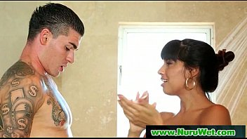 Nuru Massage Performed By Big Tit Asian Hot Babe 09