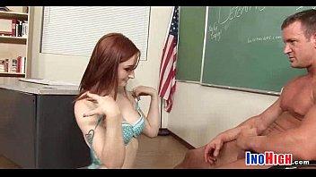 ginger-haired puny college girl shag 1.
