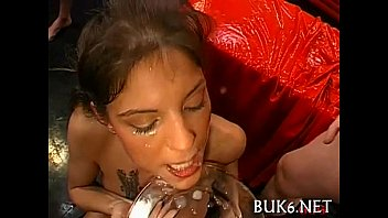 Sexy asian getting sated cumshots