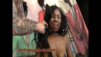 ebony dame has raunchy fuck-fest with two milky studs