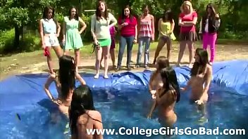 Lesbian amateurs in pool games