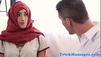 hijab dressed in rubdown customer blows.
