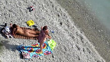 snooping two teenagers on the beach scorching very first-timer