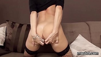 unrighteous czech beauty spreads her sensitive labia to.
