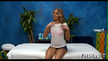 Hot 18 year old brunette hair slut gets fucked hard by her massage therapist!