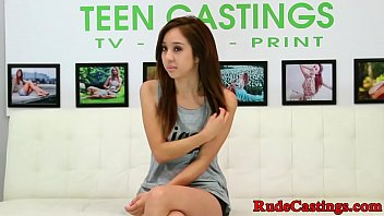 Asian teen squirts and fucks at casting