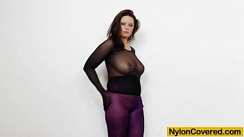 fat milk cans sweetie in nylon mask and.