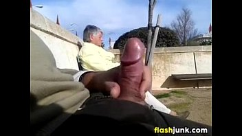 Cock Gets Pulled Out In Public For A GILF