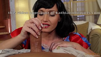 Snow White oily HANDJOB on big dick! POV with Kathia Nobili - PART 1