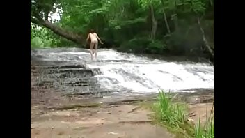 nude hiking and wading in the drips of.