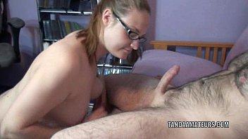 Curvy blonde MILF Danni is swallowing a stiff cock