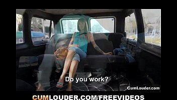 Ginger amateur woman gets fucked in a Van