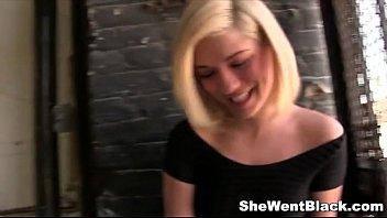 Cute Blonde Lia Lor fucked by Black Cock