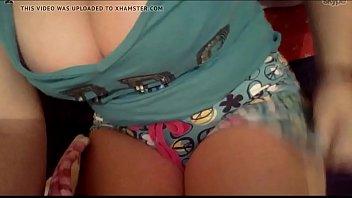 webcam con mi novia tetona 3