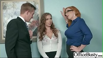 Sex In Office With Big Round Tits Girl (Lauren Phillips &amp_ Lena Paul) video-19