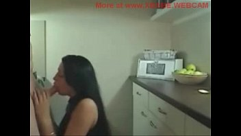 Brunette amateur fucking in kitchen