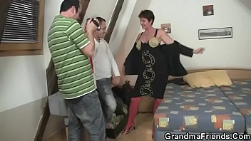 They film threesome orgy with granny