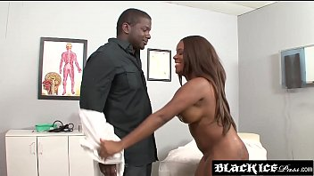 Big booty ebony Candice Nicole examined by her doctors bbc