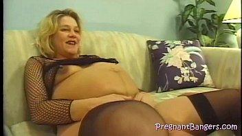 preggo blond gets a pervy bang