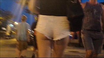 18 yo teen gf voyeur pawg booty daisy dukes caught in public