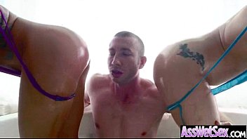 Hard Deep Anal Sex On Cam With Big Butt Oiled Slut Girl (aj savannah) clip-03