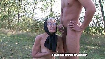 supah-naughty grandma humped outdoors badly in her fur.