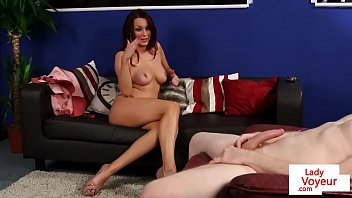 classy honey instructs nude stud
