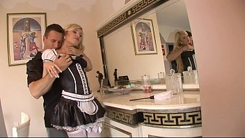 Maid gets big hard assfuck in super bedroom with fat cock and fat cumshot