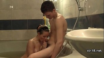 taut steaming nubile gets hard-core poked