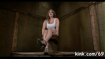 Pretty hot angel suffers beautifully in hard bondage and sex!