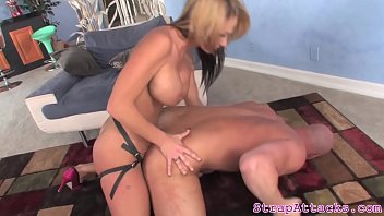 cougar mistress pegging slave and gives.