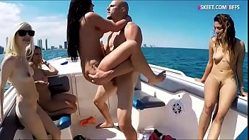 College teen girls pounded on speedboat