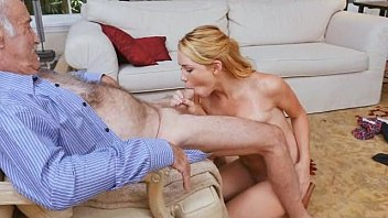 Blonde Teen Raylin Ann Railed By Three Old Dudes At Once