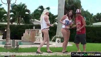 Group Hard Style Bang On Cam With College Girls (autumn &amp_ chanel) movie-10